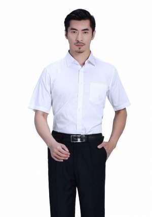 白色正常款衬衫短袖衬衫